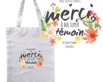 """TOTE BAG 100% cotton """"we're married!..."""" personalized"""