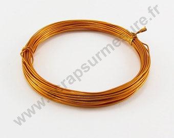 Ø 1 mm - ORANGE - x 2 m aluminium wire