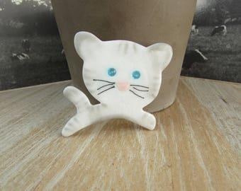 "Big ""Cat"" brooch with Crystal eyes"