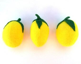 Lemon felt fruit market dinette
