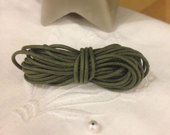The meter - Olive green color waxed cotton cord