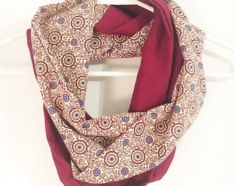Red African Infinity Scarf
