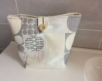 Large beautiful upholstery fabric pouch