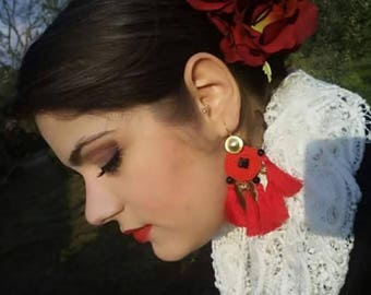 Handmade Jewelry Made in Sicily, Sicily, handmade earrings, handmade in Malafimmina SicilianStyle