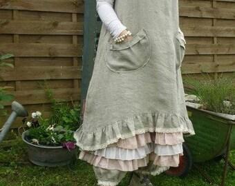 rustic linen dress models Madeleine