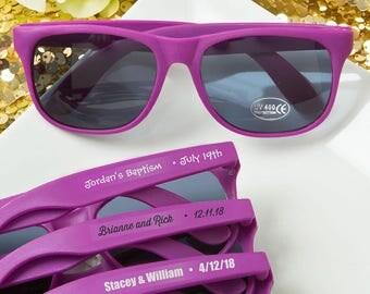 40 Personalized Purple Sunglasses - Set of 40