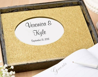 Personalized Golden elegance collection Wedding Guest Book