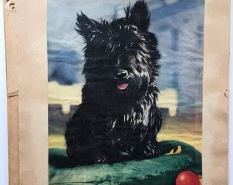 Cute Scottie Dog terrier vintage scrapbook pages | dogs puppies photography newspaper clippings | collectible ephemera | 1940s