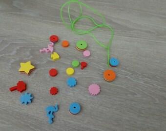 Number 1 foam Kit kids beaded necklace