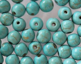 ❥ Set 4 x turquoise round bead