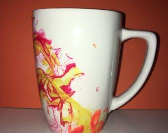 Marbled Mug, Coffee Mug, Craft Mug, Fingernail Polish Mug