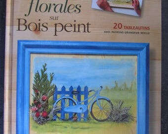 """Book """"Floral on painted wood"""" - 20 book with full-scale patterns"""