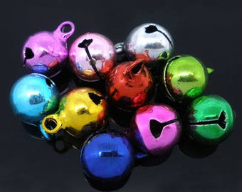 set of 7 matching 10mm tinkling bells charms