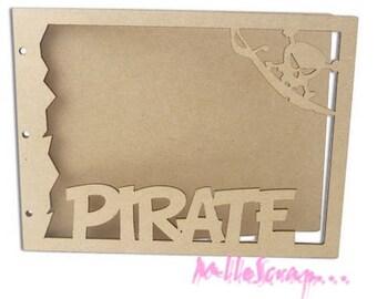 Album scrap special pirate wooden blank scrapbooking card making *.