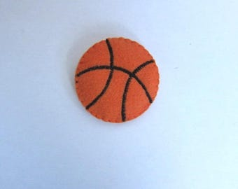 Embellishment basketball fabric for scrapbooking