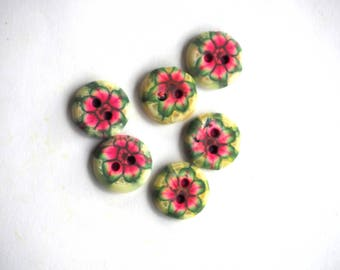 BUTTON out of clay polymer clay 13 mm for shirt or vest or scrapbooking