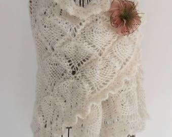 Shawl/scarf / rosewood mohair/silk yarn