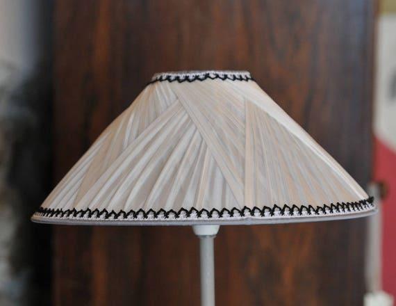 el gant abat jour pliss en pong de soie. Black Bedroom Furniture Sets. Home Design Ideas
