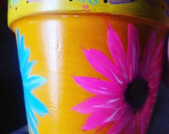 Hand-Painted Flower Pot