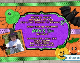 Halloween Party Invitations - Cute Halloween Birthday Invitations