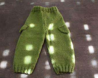 3 months green jogging pants