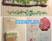 Tampon personnalisé fait-main - tampon logo - tampon baptême, mariage - tampon sur gomme japonaise - tampon personnalisable fait-maison