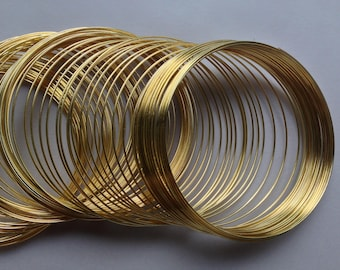 30 bracelet shape memory wire towers metal steel colored gold dore ~55/0,5mm