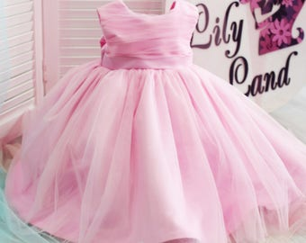 Girl dress pink Christmas tutu dress for baby tutu dress kids tutu dress toddler dress tulle girl dress size 1 2 3 4 5 6 7 8 9 10 24 mounth