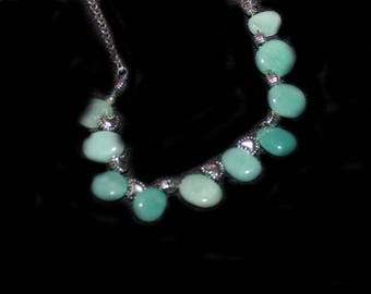 CŒURS AMAZONITE NECKLACE