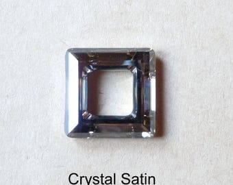 1 hollow square 4439 Austrian Crystal