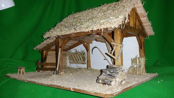 Cr che de no l rachel de fabrication artisanale - Fabriquer une creche de noel en bois ...