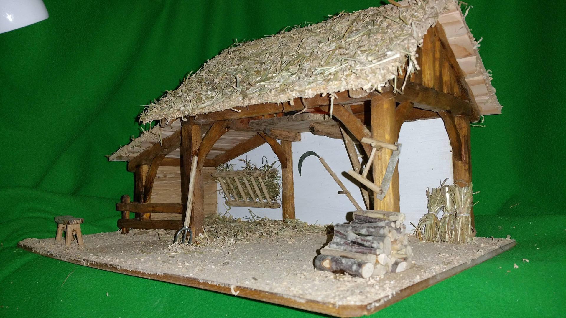 Crèche de Noël Rachel de fabrication artisanale