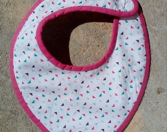 Terry collection Mini Pink Triangles bandana