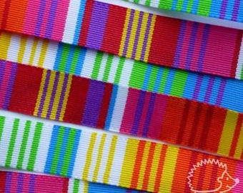 "4 m Ribbon fancy woven ""multicolor"" 10mm"