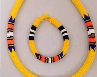 Zulu African Bead Necklace