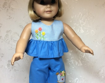 "Sweet Summer Play Outfit for 18"" American Girl Doll"