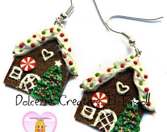 ☃ Christmas In Sweetness 2016☃ earrings - Gingerbread House - miniature gingerbread house