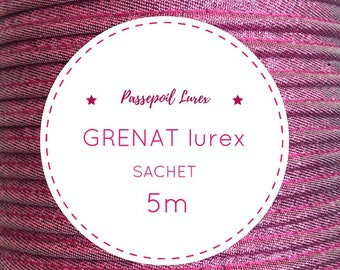 Sachet 5 m piping - Garnet lurex