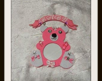 """Pooh"" pink photo frame"