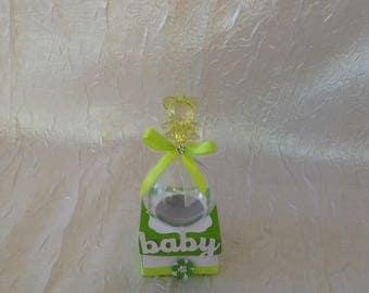 Box has bean ball plexi with lime green / white
