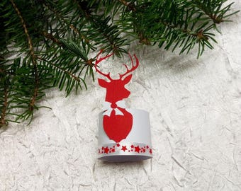 set of 70 round towel Christmas Reindeer decoration