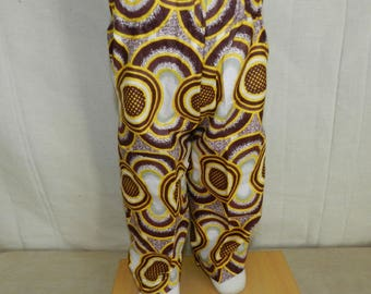 Baby trousers in fabric African patchwork from 0 to 2 years