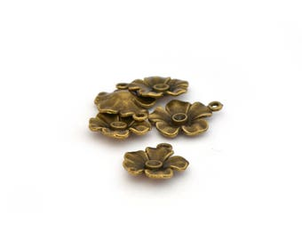 5 flowers antique bronze