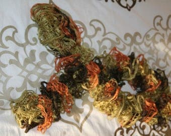 Froufrou scarf green brown orange