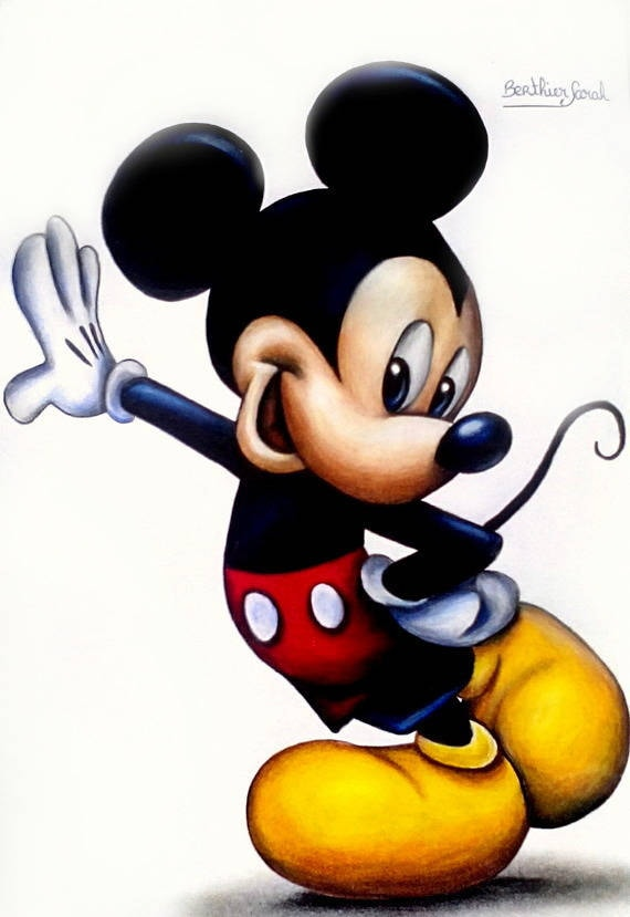 Dessin mickey aux crayons de couleurs disney - Dessins animes de mickey mouse ...