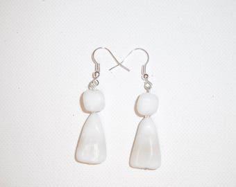 Earring, white