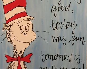 Dr. Seuss Quote Canvas 16x18