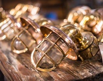 Brass Ship's Lights