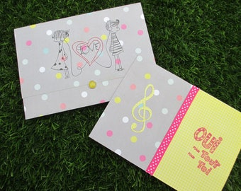Wedding card and matching wallet
