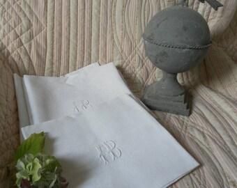 Linen napkin old Monogram LCV